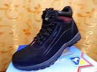 Ботинки.магазин обувь. Черные мужские ботинки шнуровка и замок молния. Мех. мужская обувь. обувь каталог