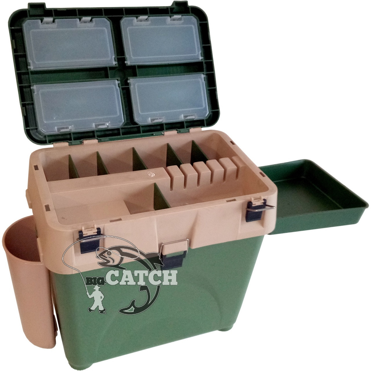 Зимний ящик для рыбалки COM-417 с карманом и столиком