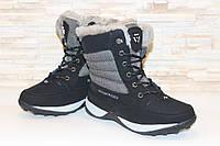 С606 - Ботинки женские зимние черные