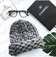 Шапка Хельсинки из толстой пряжи, Шапка крупной вязки, Крупная шапка, Зимняя вязанная шапка, Шапка helsinki