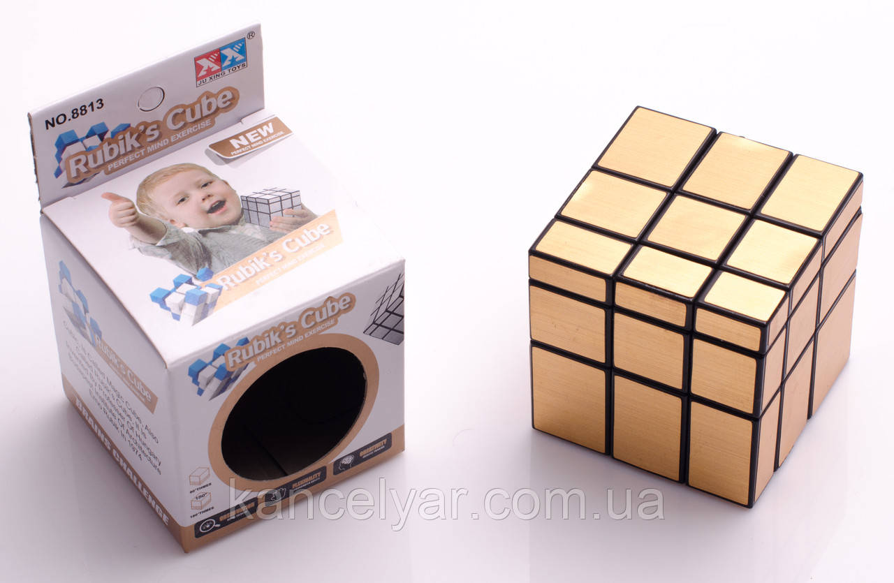 "Кубик-рубик ""3х3"", золото, зеркальный, 5.7 см"