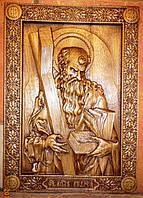 """Резные иконы купить. Резное панно """"Апостол Андрей"""", фото 1"""