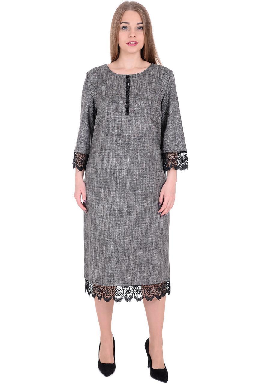 b07aace48fc Вечернее платье прямого фасона из костюмной ткани с люрексом и кружевом