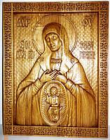 """Резная икона. Икона Божьей Матери """"В родах помощница"""", фото 1"""