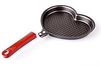 Сковорода рифленая Большое Сердце,лучшие сковородки