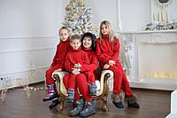 Family look одинаковые вязаные костюмы для мамы и ребёнка