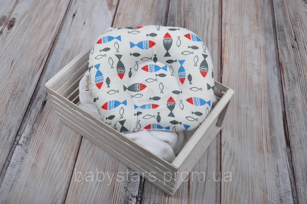 """Подушка для новорожденных """"Цветные рыбки"""""""