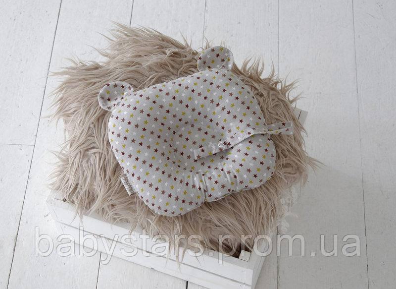 Подушка-держатель для соски «Мишка», звезды