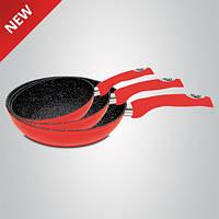 Набор сковородок Royalty Line Red RL-FM3M 3 pcs