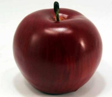 Яблоко декоративное 972315 (8см) бордовое