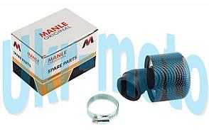 """Фильтр воздушный (нулевик)   Ø35mm, 45*,   (карбон)   """"MANLE"""""""