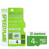 Карта памяти Remax MicroSD 4GB Class 10 Hi Speed