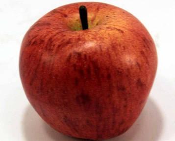 Яблоко декоративное 972313 (8см) красно-оранжевое