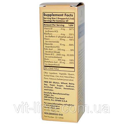 Solgar, Подъязычная форма жидкого витамина B-12, 2000 мкг (59,2 мл), фото 2