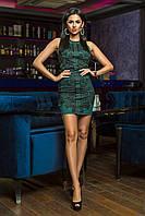 Неотразимое коктейльное платье мини с отделкой кружевом , фото 1