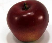Яблоко декоративное 972309 (8см) бордово-желтое