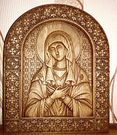 """Иконы резные из дерева. Икона Божией Матери  """"Умиление"""""""