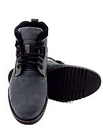 Мужские зимние ботинки, натуральная кожа, нубук, модель Vebster, серый
