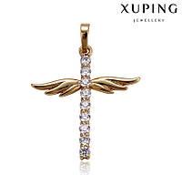 Кулон с позолотой крестик крыльями, ювелирная бижутерия xuping