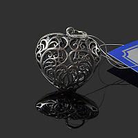Серебряная подвеска Сердце ажурное большое