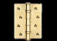 Петля для дверей стальная универсальная Артикул: HE-100 Цвет отделки: PB - полированная латунь