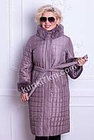 Женское пальто с мехом Snow beauty №1130