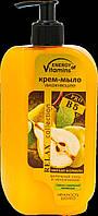 Крем-мыло Вкусные Секреты увлажняющее Груша с ванильной карамелью, 500 мл (0755)