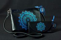 Женская кожаная сумка и кошелек