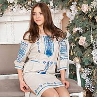 Вышитое платья (ручная робота, лен) - 42-44-46 розміри