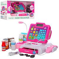 Кассовый аппарат XS-16087 (12шт) 34см,калькулятор,сканер,звук,св,продукты,на бат,в кор,33-15-20см