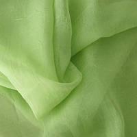 Ткань шифон вуаль креш зеленое яблоко