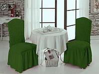 Чехлы универсальные для стульев зеленые (6-шт) Турция