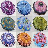 "Зонт женский полуавтомат ""цветок"" оптом на 10 спиц из стеклопла́стика от фирмы ""MaX"""