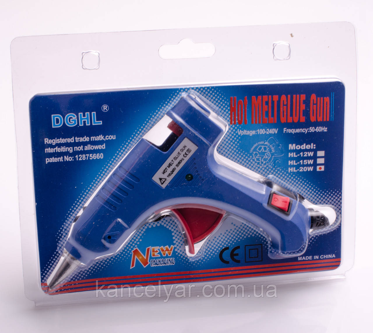 Пистолет клеевой, для силикона D=7 мм