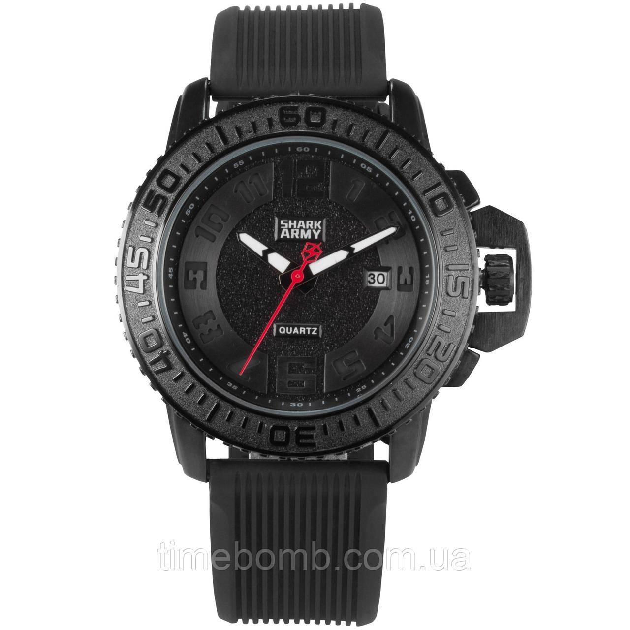 Мужские армейские часы Shark Army Woodoo 2 черные