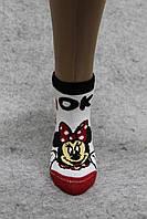 "Женский носок ""Микки 2"", демисезонный, 100%  хлопок, ТМ ""ANGELO BUONO"""