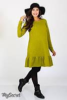 Копія Платье Ketty для беременных и кормящих, желто-зеленый