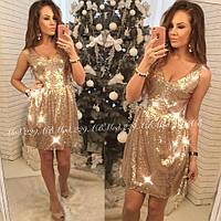Женское нарядное платье с паетками 42 44 46 размер опт розница