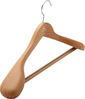 Вешалка для одежды Granchio-household с резиновыми зубцами на перекладине 50х6.5 см, бук светлый (88910)