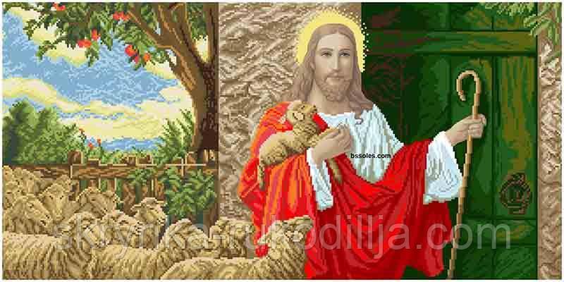 Вишивка бісером   Ісус стукає у двері (великий) 204 х 102 см