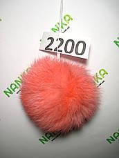 Меховой помпон Кролик, Яркая Роза, 10 см, 2200, фото 2