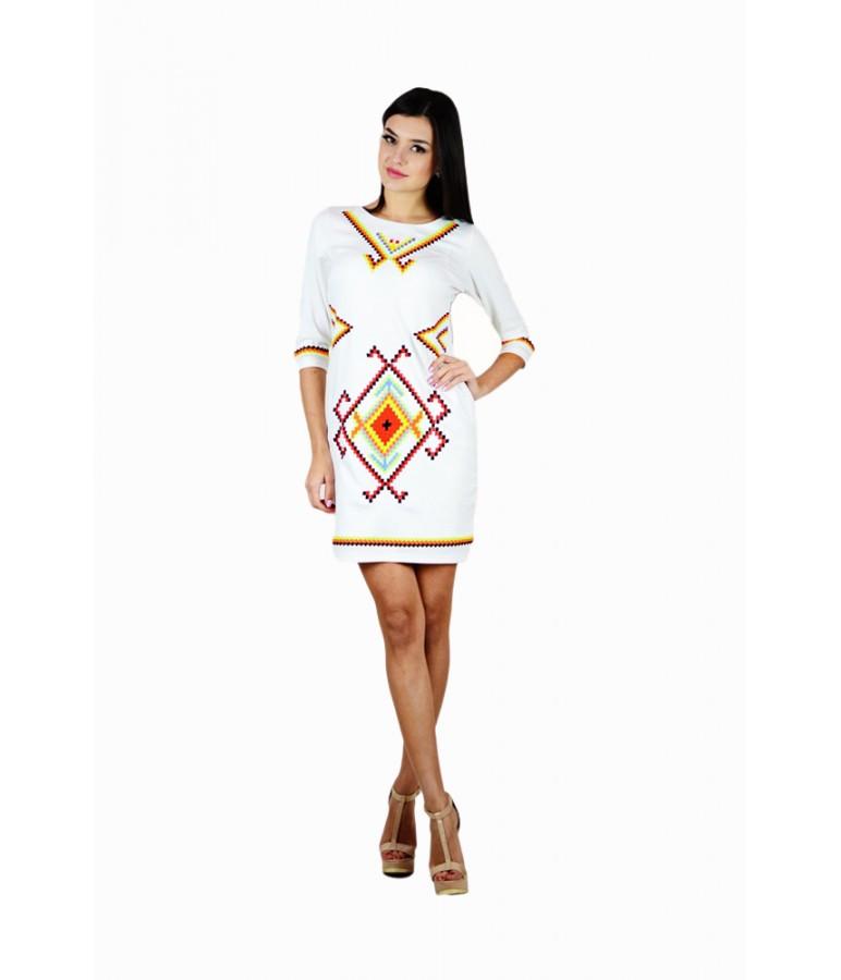 Коротке жіноче плаття з вишивкою Веселка - Цікавий магазинчик в Яготине df83203334555