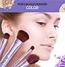 Набір пензлів «BIOAQUA» Make up beauty 7 шт в металевому футлярі бузковий, 7шт, фото 2