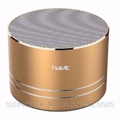 Колонка bluetooth Havit HV-SK556  golden