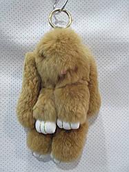 Брелок Зайчика из натурального меха размер 19*12 см №004