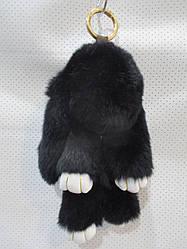 Брелок Зайчика из натурального меха размер 19*12 см №005