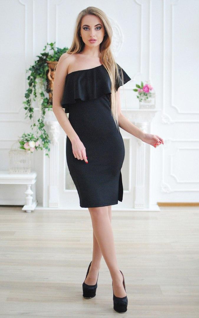 a5f13d526497 Женское нежное платье на одно плечо: продажа, цена в Киеве. платья женские  от