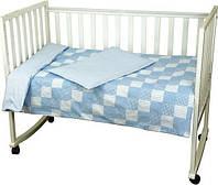 Детский комплект постельного белья Руно Клетка 112х147, голубой (932Клеточка_Голубой)
