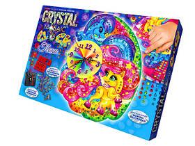 """Набор для творчества """"Чaсы из кристаллов """"Crystal Mosaic Сlock"""" Danko Toys"""