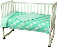 Детский комплект постельного белья Руно Клетка 112х147, зеленый (932Клеточка_Зеленый)